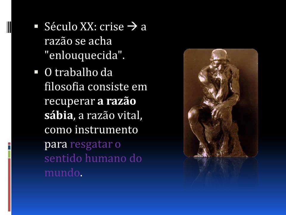 Século XX: crise a razão se acha