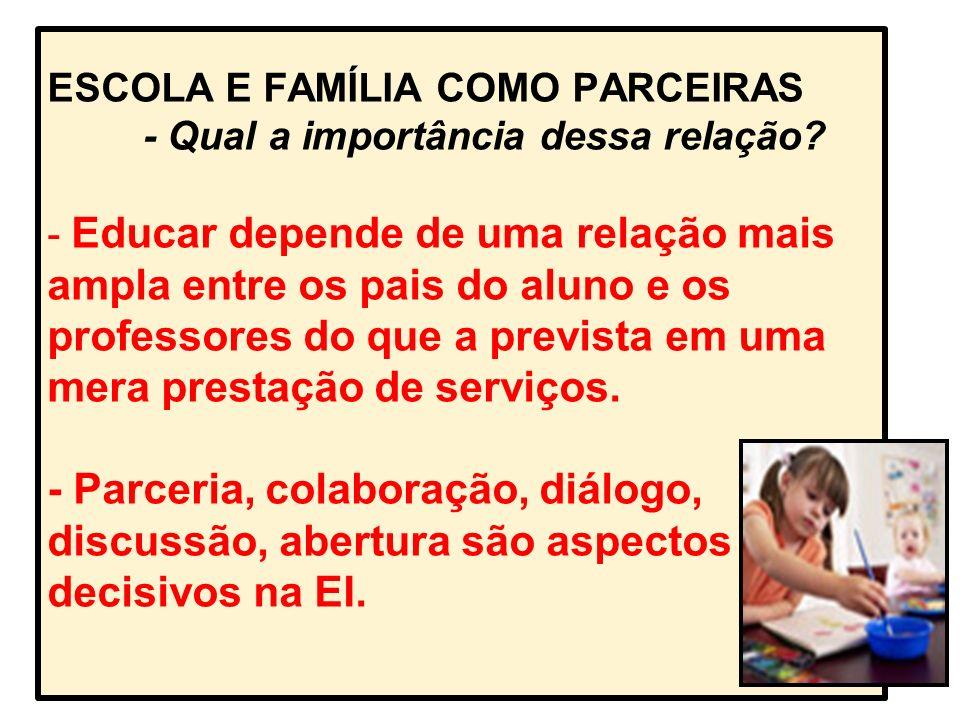 OS PAPÉIS DA FAMÍLIA E DA ESCOLA NA EDUCAÇÃO DAS CRIANÇAS.