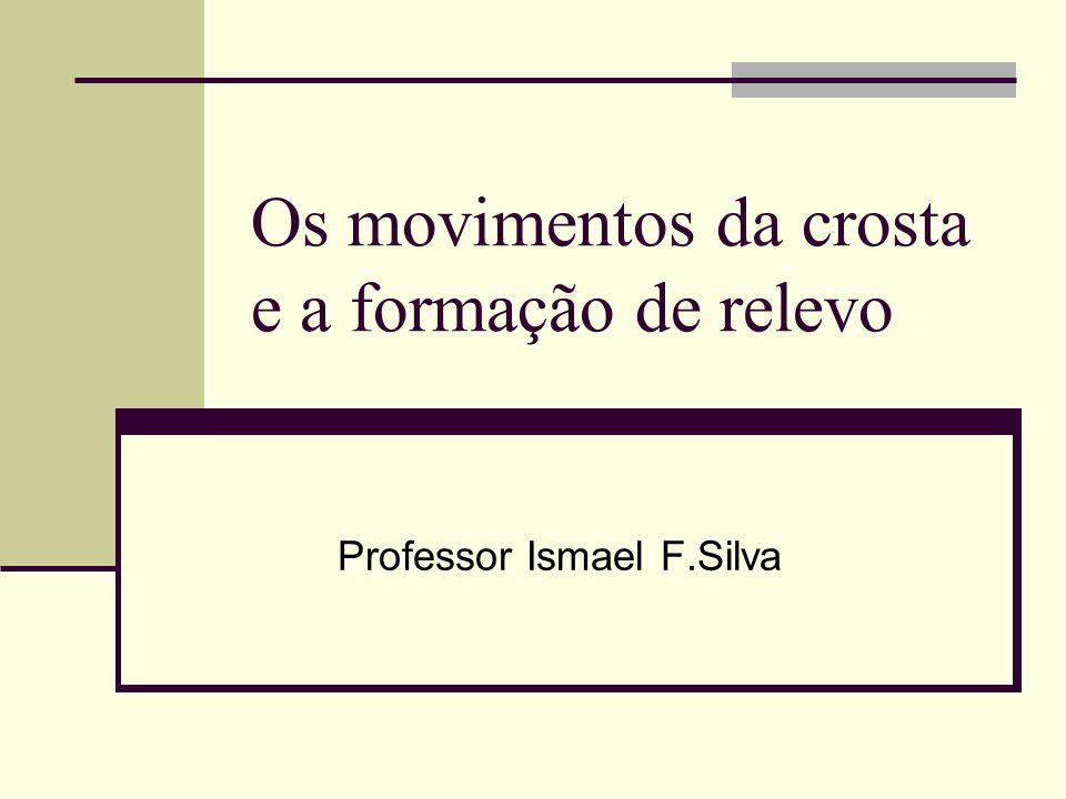 Os movimentos da crosta e a formação de relevo Professor Ismael F.Silva