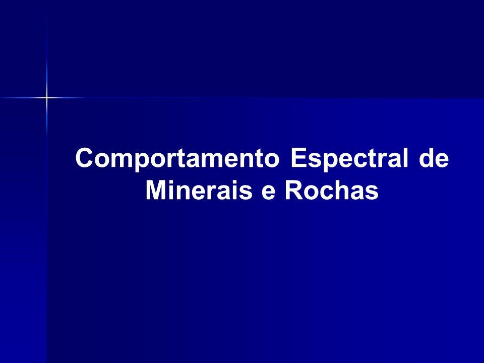 Limitações decorrentes de para metros ambientais Limitações decorrentes de para metros ambientais Para a geologia, o conhecimento do comportamento espectral é ainda mais imprescindível, dada a enorme variedade de minerais e rochas presentes na natureza.