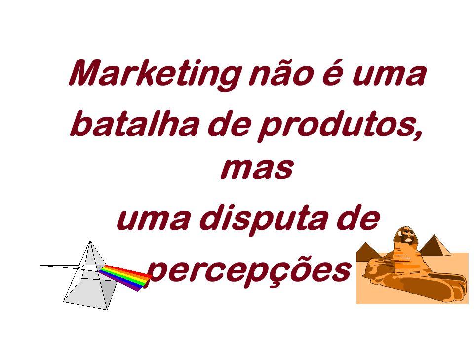 Marketing não é uma batalha de produtos, mas uma disputa de percepções