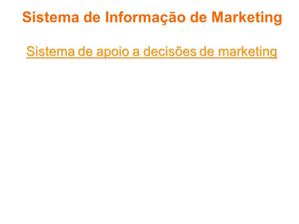 Sistema de Informação de Marketing Sistema de apoio a decisões de marketing É um conjunto coordenado de dados, sistemas, ferramentas e técnicas com so