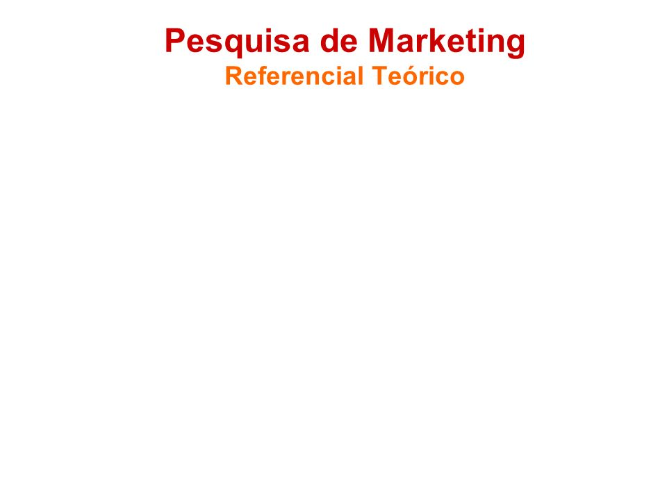 Pesquisa de Marketing Referencial Teórico Estruturar (dividir em seções) Não abusar de citações. A parcimônia valoriza as menções. (Citação é menção d