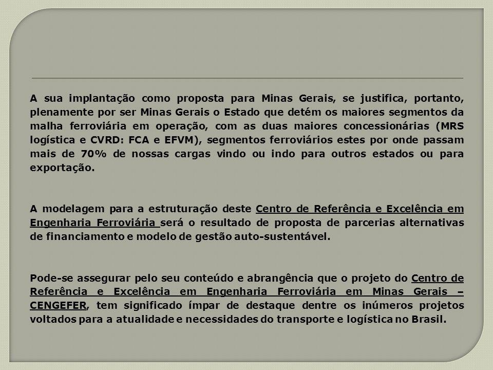 A sua implantação como proposta para Minas Gerais, se justifica, portanto, plenamente por ser Minas Gerais o Estado que detém os maiores segmentos da