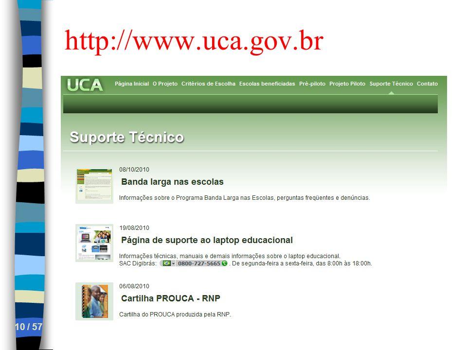 http://www.uca.gov.br 10 / 57