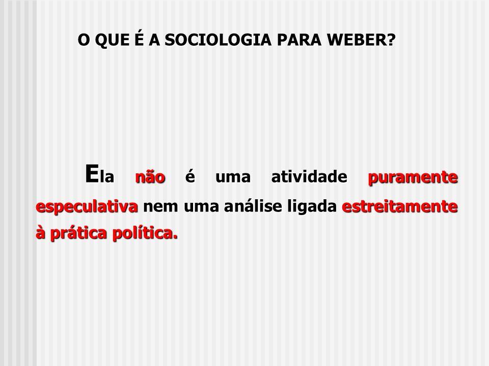 A sociologia é uma ciência que se propõe compreender pela interpretação a ação social e por seu intermédio explicar causalmente seu desenrolar e seus efeitos.