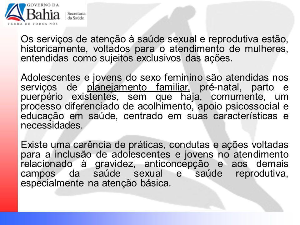 Os serviços de atenção à saúde sexual e reprodutiva estão, historicamente, voltados para o atendimento de mulheres, entendidas como sujeitos exclusivo
