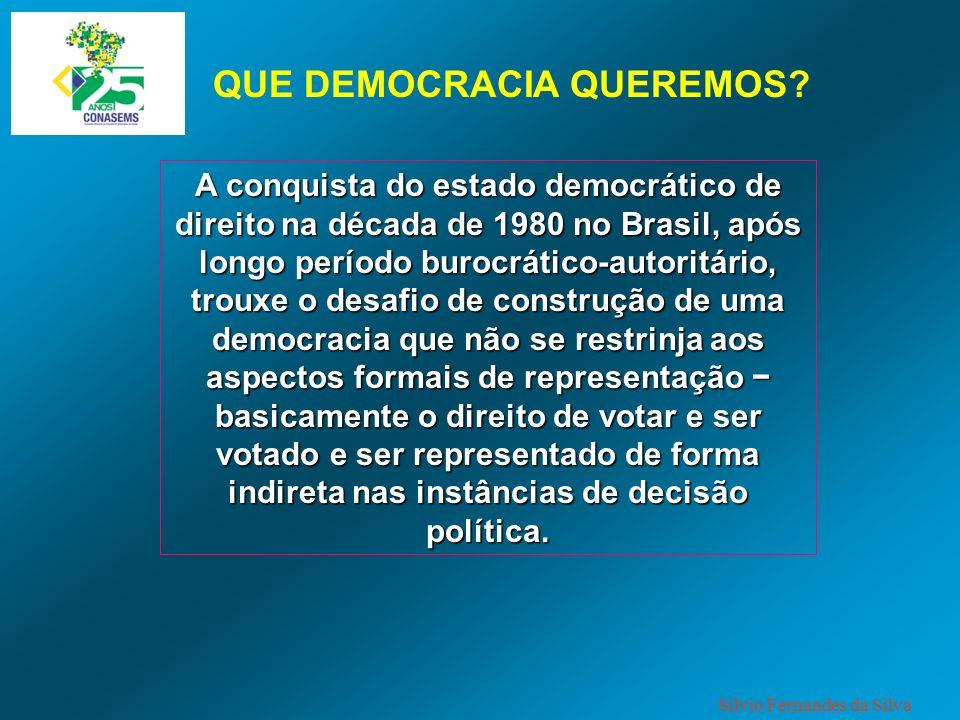 A conquista do estado democrático de direito na década de 1980 no Brasil, após longo período burocrático-autoritário, trouxe o desafio de construção d