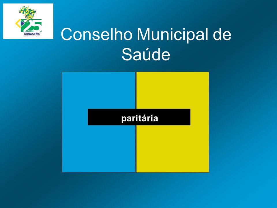 Conselho Municipal de Saúde paritária