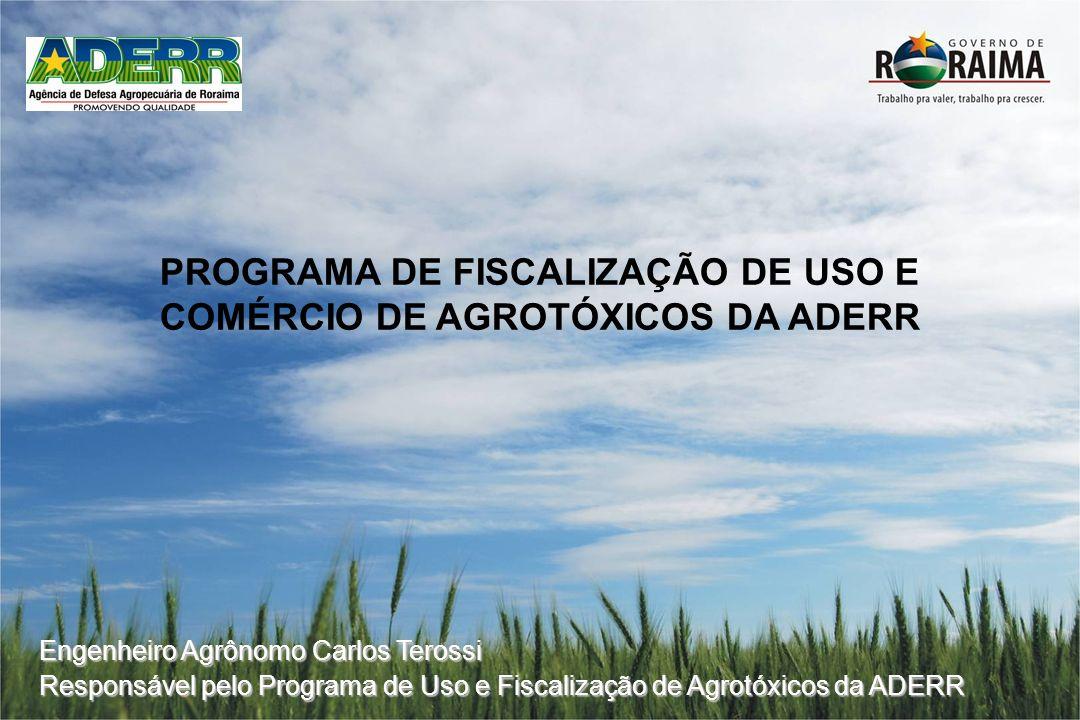PROGRAMA DE FISCALIZAÇÃO DE USO E COMÉRCIO DE AGROTÓXICOS DA ADERR Engenheiro Agrônomo Carlos Terossi Responsável pelo Programa de Uso e Fiscalização