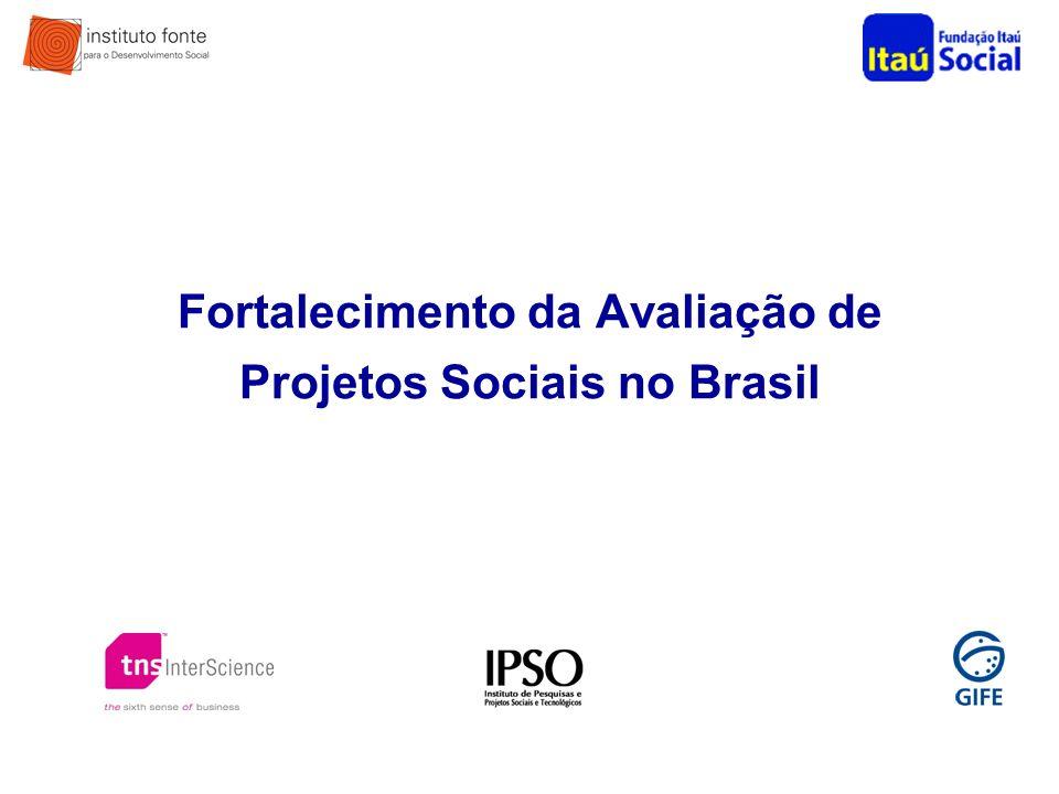 Fortalecimento da Avaliação de Projetos Sociais no Brasil