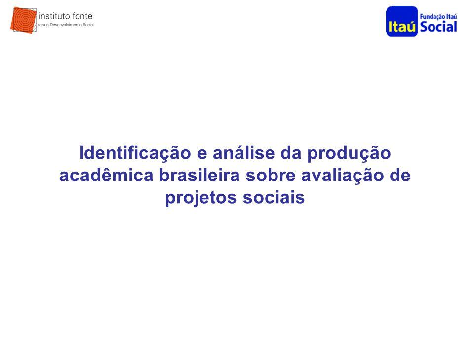 Identificação e análise da produção acadêmica brasileira sobre avaliação de projetos sociais