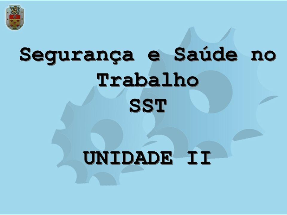 Segurança e Saúde no Trabalho SST UNIDADE II Segurança e Saúde no Trabalho SST UNIDADE II