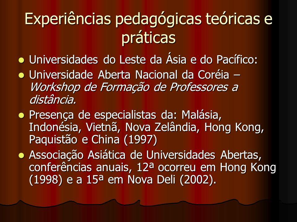 Experiências pedagógicas teóricas e práticas Universidades do Leste da Ásia e do Pacífico: Universidades do Leste da Ásia e do Pacífico: Universidade