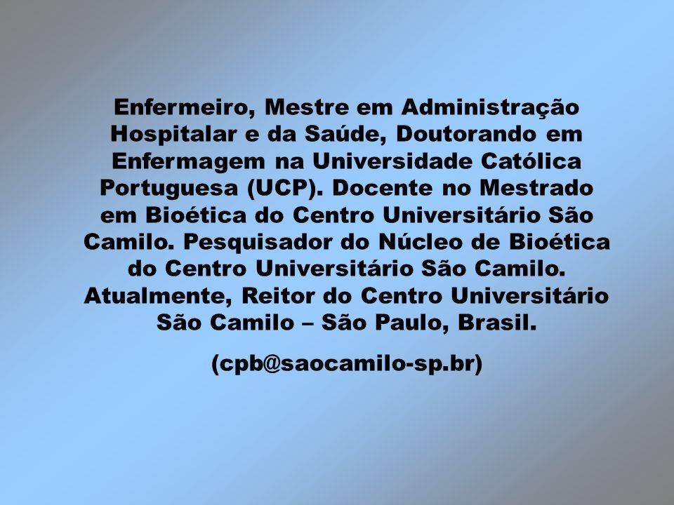 Enfermeiro, Mestre em Administração Hospitalar e da Saúde, Doutorando em Enfermagem na Universidade Católica Portuguesa (UCP). Docente no Mestrado em