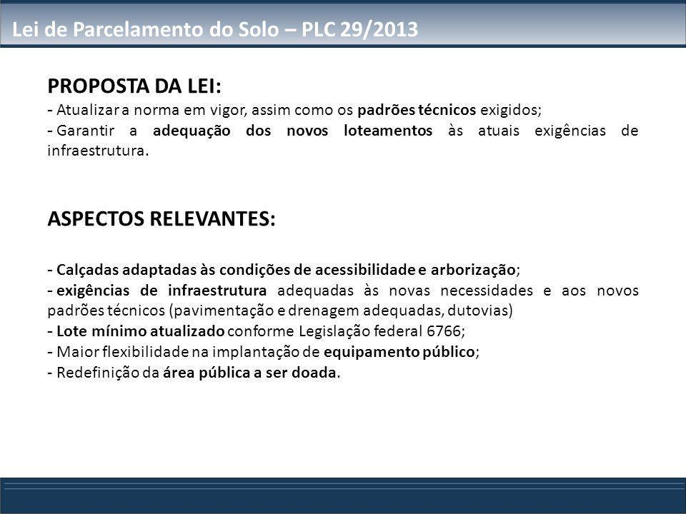 LPS - Estrutura do Projeto de Lei