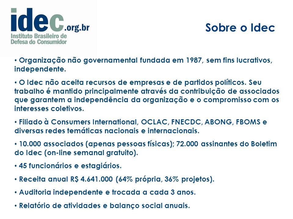 Organização não governamental fundada em 1987, sem fins lucrativos, independente.