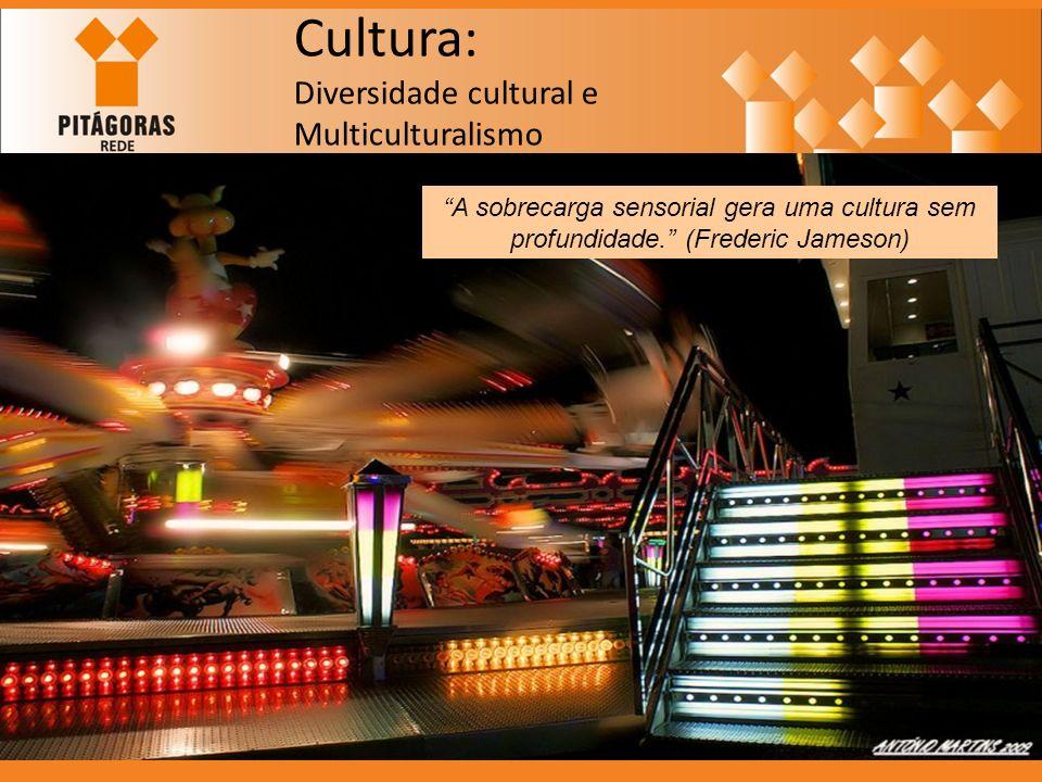 Cultura: Diversidade cultural e Multiculturalismo A sobrecarga sensorial gera uma cultura sem profundidade. (Frederic Jameson)