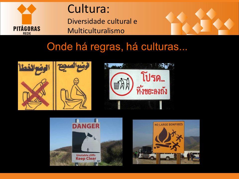 Cultura: Diversidade cultural e Multiculturalismo Onde há regras, há culturas...