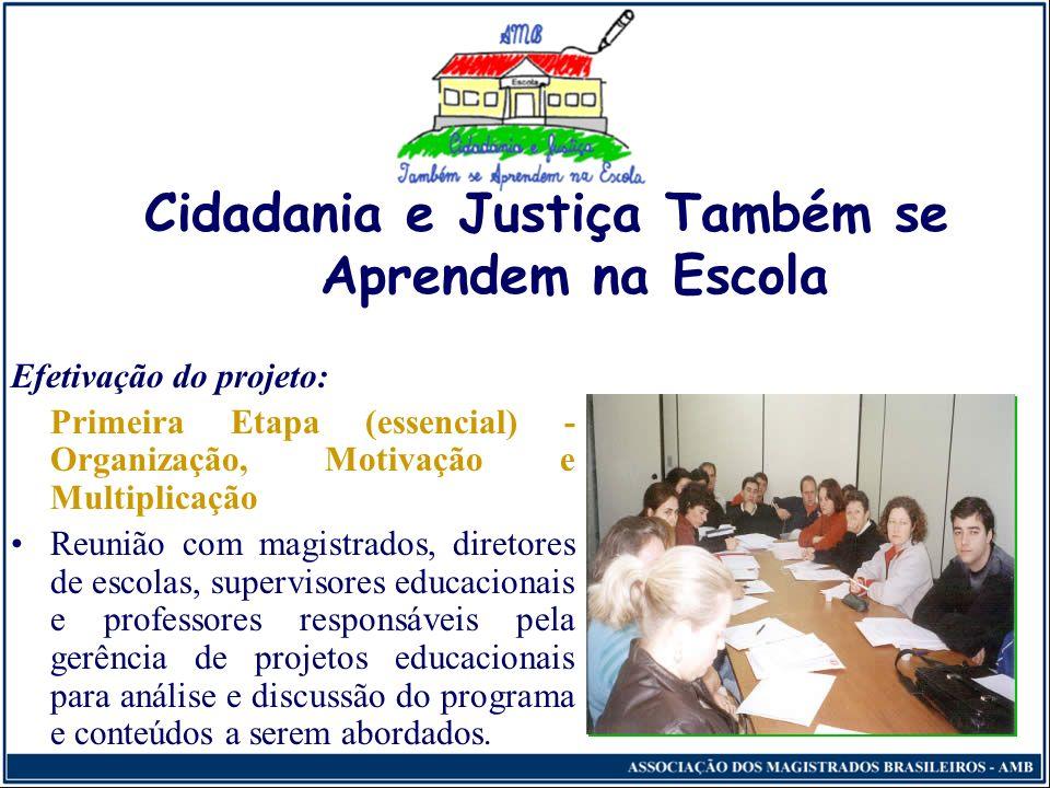 Cidadania e Justiça Também se Aprendem na Escola Verificação de Adesões e Planejamento Específico Em seguida, é preciso avaliar o alcance das adesões