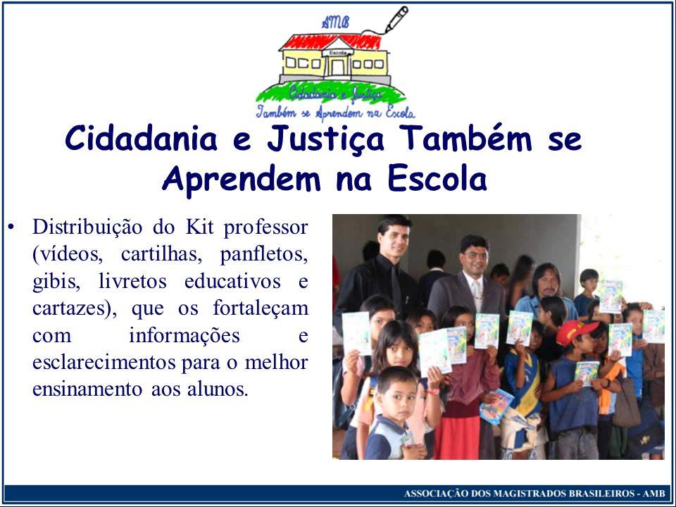 Cidadania e Justiça Também se Aprendem na Escola Exposição destinada aos professores sobre o projeto e os temas específicos previamente estabelecidos;