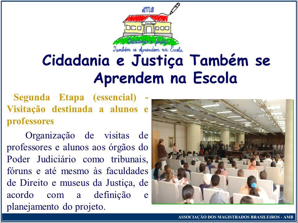 Cidadania e Justiça Também se Aprendem na Escola Distribuição do Kit professor (vídeos, cartilhas, panfletos, gibis, livretos educativos e cartazes),