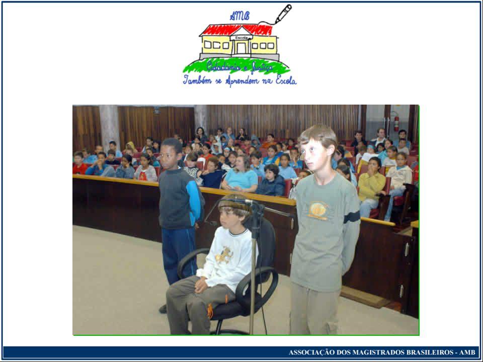 Cidadania e Justiça Também se Aprendem na Escola Apresentação dos trabalhos A defesa...