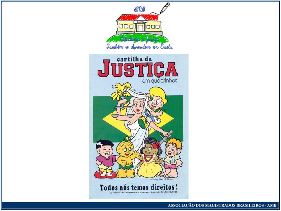 Cidadania e Justiça Também se Aprendem na Escola Exposição destinada aos professores sobre o projeto e os temas específicos previamente estabelecidos; Identificação, pelo professor, de conteúdos curriculares a serem trabalhados com os alunos;