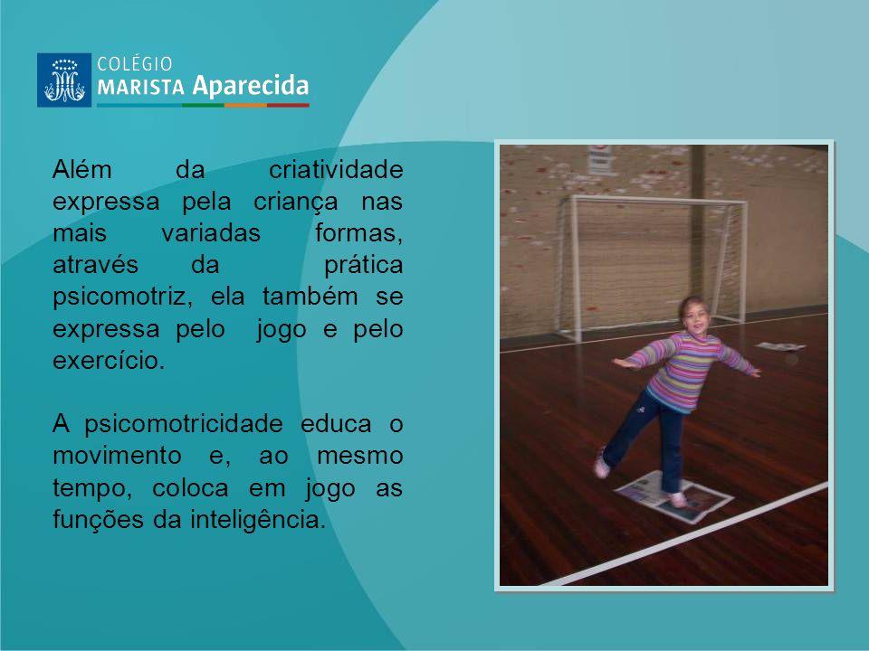 Além da criatividade expressa pela criança nas mais variadas formas, através da prática psicomotriz, ela também se expressa pelo jogo e pelo exercício