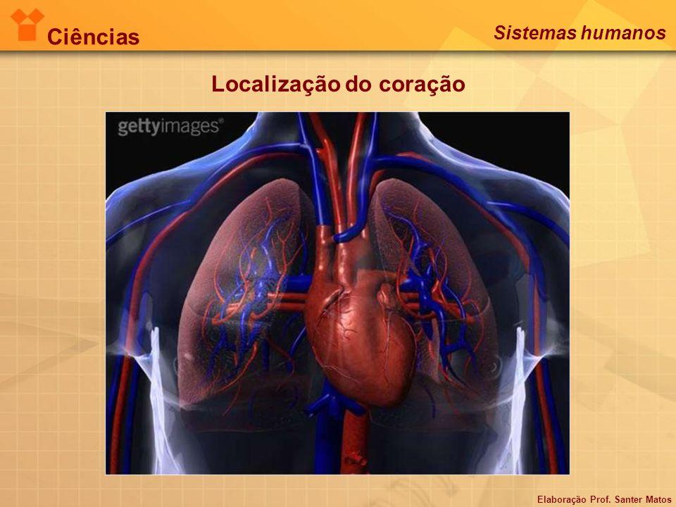 Localização do coração Ciências Sistemas humanos Elaboração Prof. Santer Matos