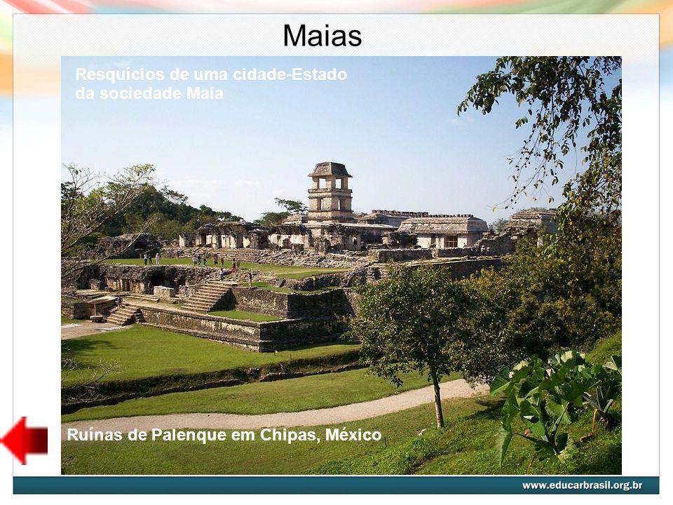 Maias Ruínas de Palenque em Chipas, México Resquícios de uma cidade-Estado da sociedade Maia