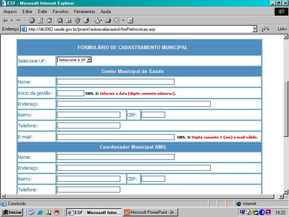 Secretaria de Atenção à Saúde Departamento de Atenção Básica Coordenação de Acompanhamento e Avaliação