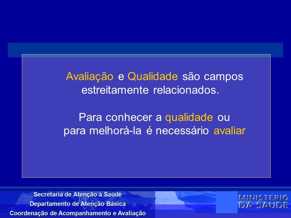 Secretaria de Atenção à Saúde Departamento de Atenção Básica Coordenação de Acompanhamento e Avaliação CAPA CADERNO AVALIATIVO Nº 4