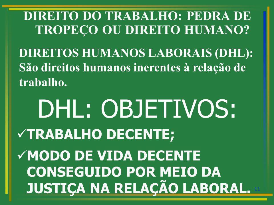 12 DIREITO DO TRABALHO: PEDRA DE TROPEÇO OU DIREITO HUMANO.