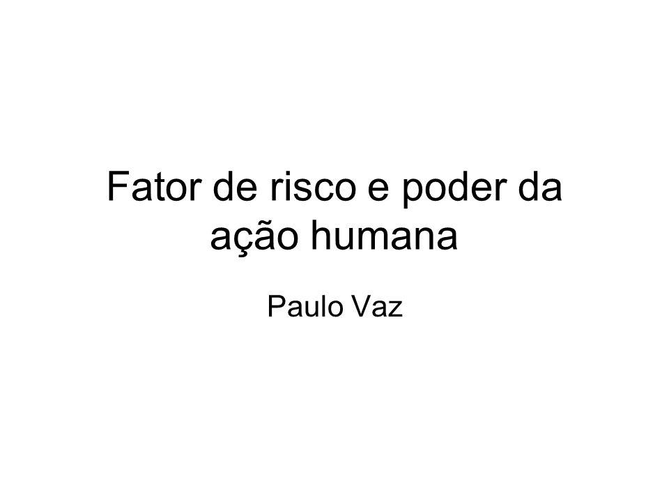 Fator de risco e poder da ação humana Paulo Vaz