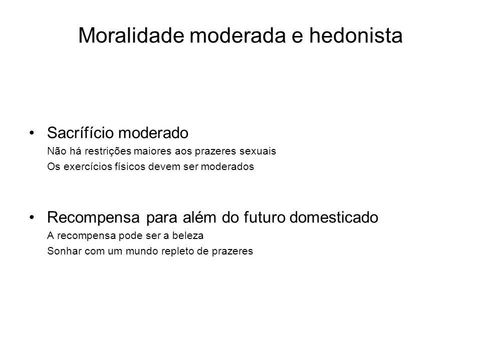 Moralidade moderada e hedonista Sacrífício moderado Não há restrições maiores aos prazeres sexuais Os exercícios físicos devem ser moderados Recompens