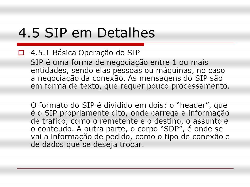 4.5 SIP em Detalhes 4.5.1 Básica Operação do SIP SIP é uma forma de negociação entre 1 ou mais entidades, sendo elas pessoas ou máquinas, no caso a ne