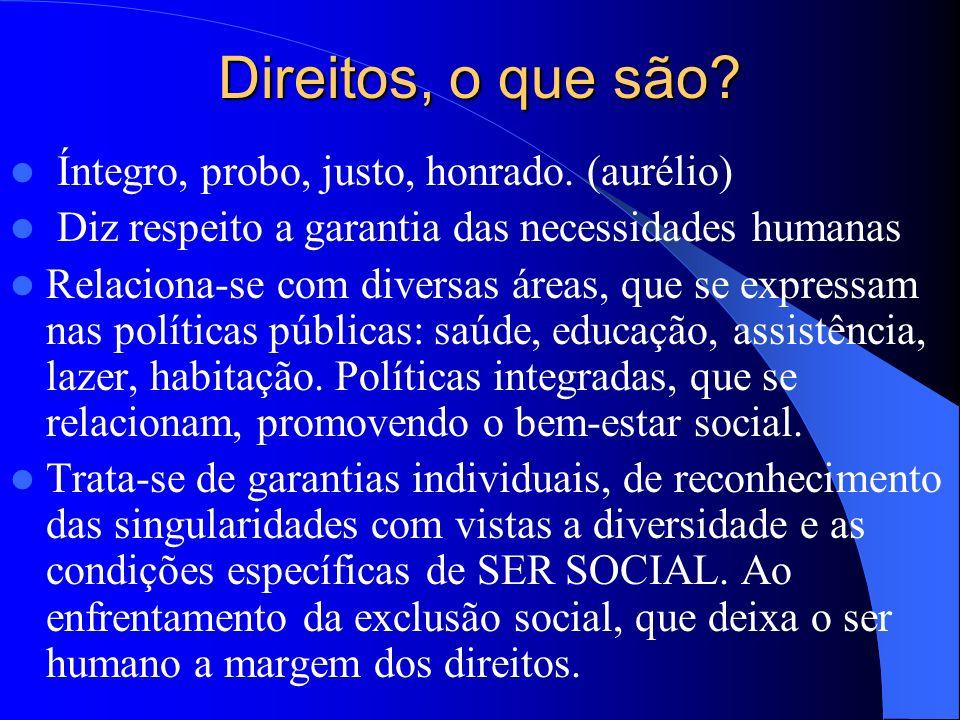 Promoção e Universalização de Direitos num Contexto de Desigualdades Esp. Sandra Rosário Pereira Assistente Social