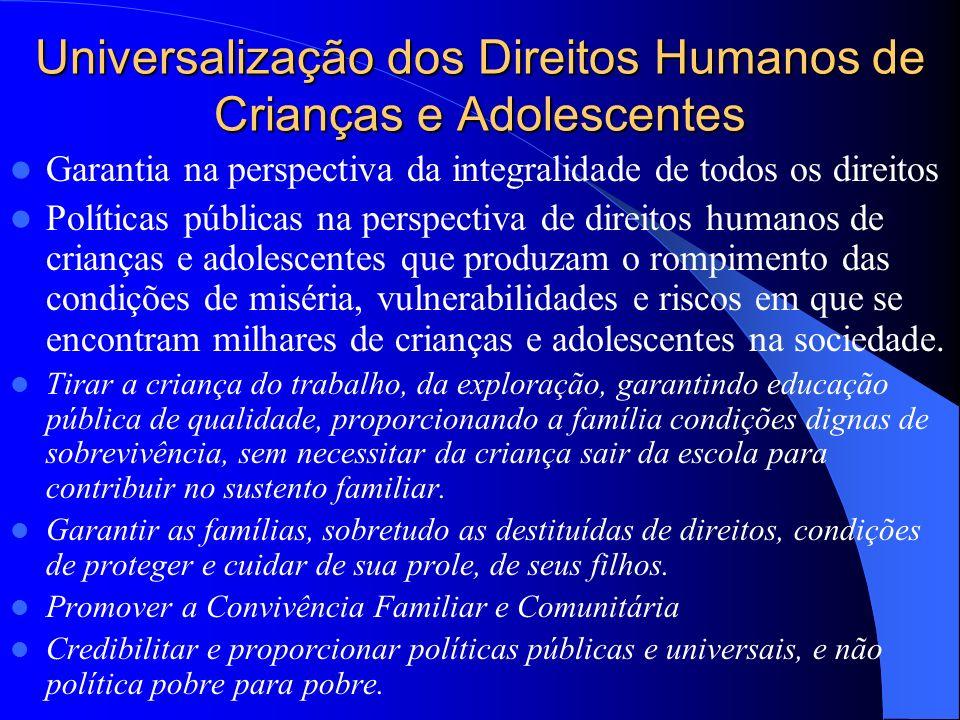 Promover Direitos Humanos Enfrentar as desigualdades, não se trata de tese utópica. A democracia aponta para isso. Desconcentrar riquezas, redistribui