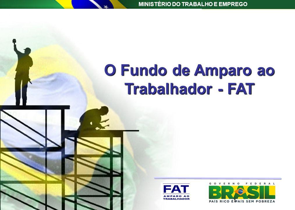 MINISTÉRIO DO TRABALHO E EMPREGO O Fundo de Amparo ao Trabalhador - FAT 1