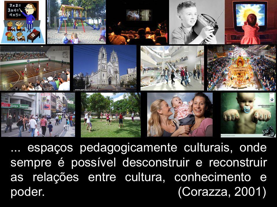 ... espaços pedagogicamente culturais, onde sempre é possível desconstruir e reconstruir as relações entre cultura, conhecimento e poder. (Corazza, 20