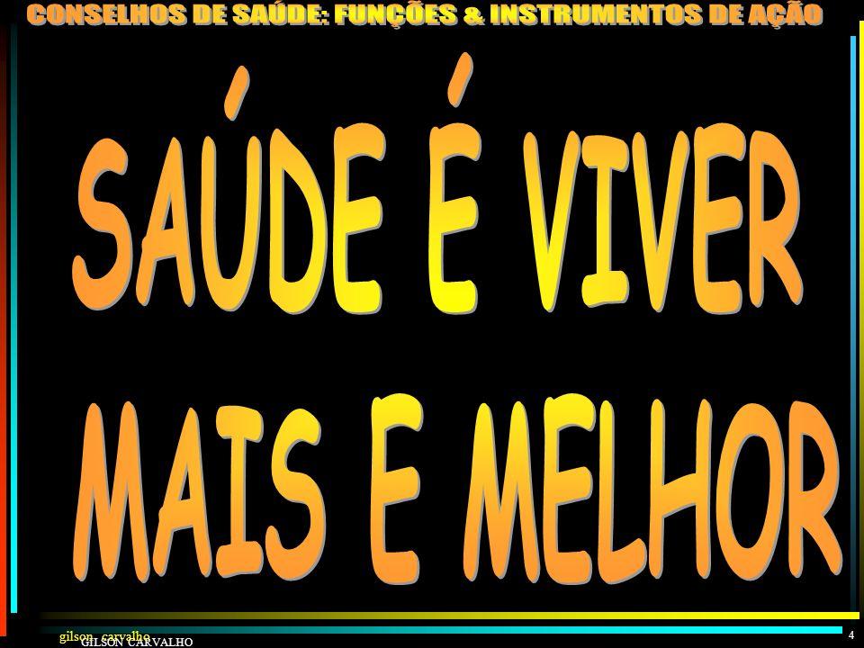 gilson carvalho GILSON CARVALHO 3 GESTÃO PARTICIPATIVA NA SAÚDE: DE QUE SAÚDE ESTAMOS FALANDO?