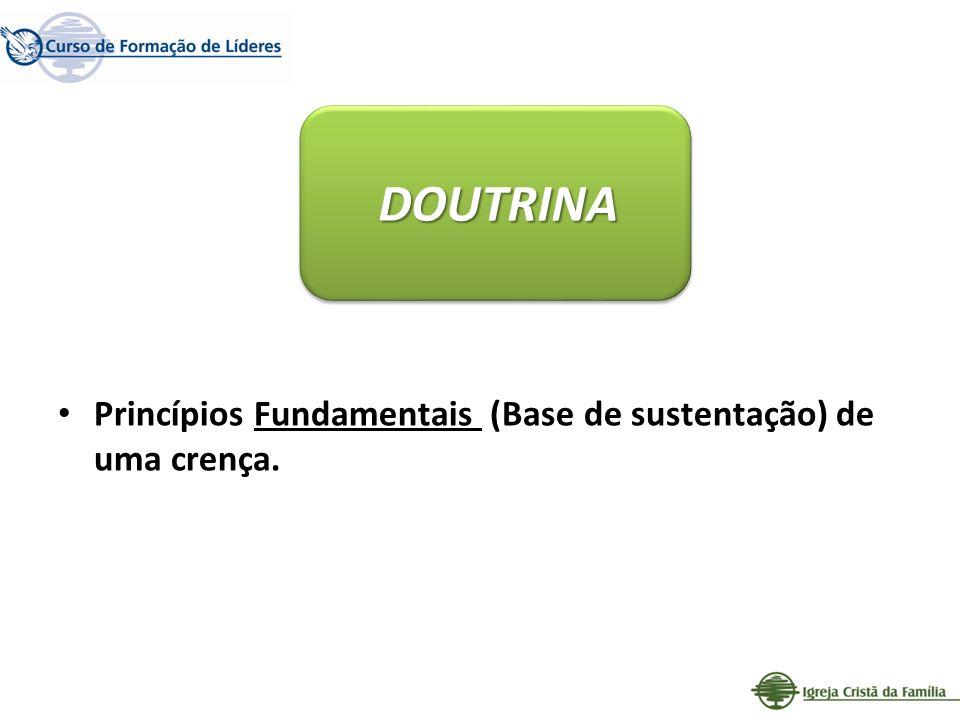 Princípios Fundamentais (Base de sustentação) de uma crença. DOUTRINA