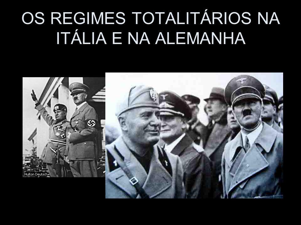 OS REGIMES TOTALITÁRIOS NA ITÁLIA E NA ALEMANHA