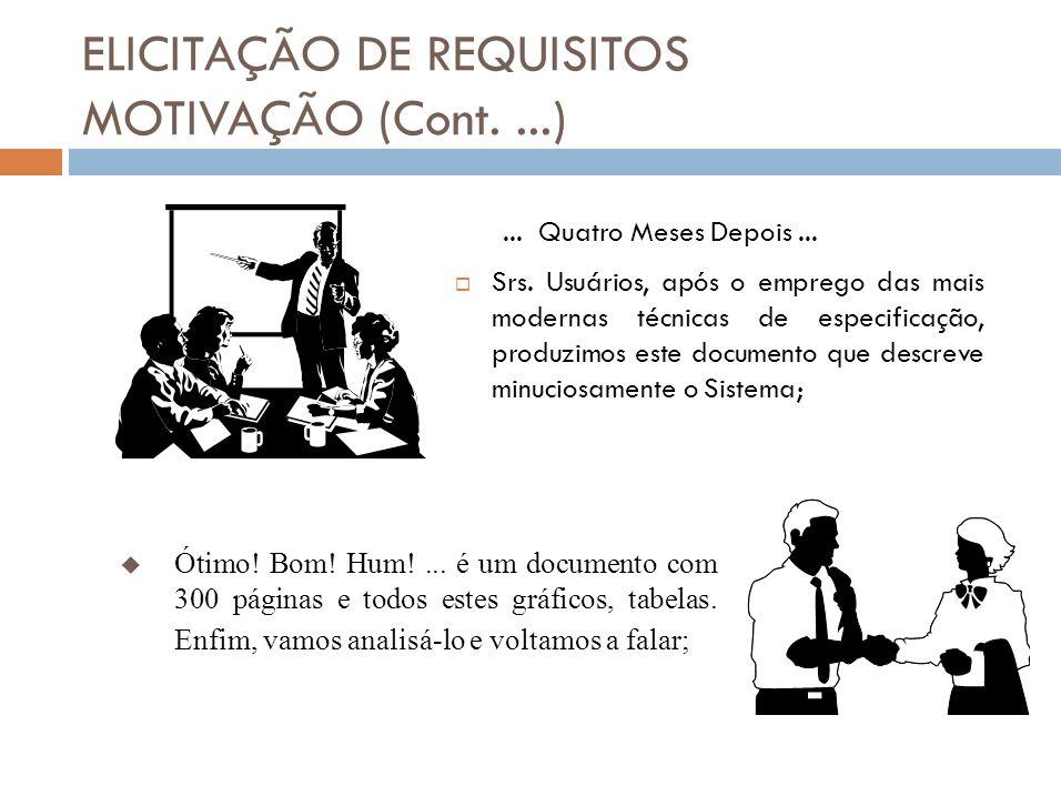 ELICITAÇÃO DE REQUISITOS MOTIVAÇÃO (Cont....) Sr.
