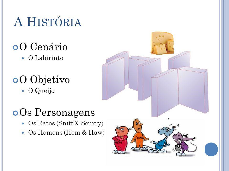 A H ISTÓRIA O Cenário O Labirinto O Objetivo O Queijo Os Personagens Os Ratos (Sniff & Scurry) Os Homens (Hem & Haw)