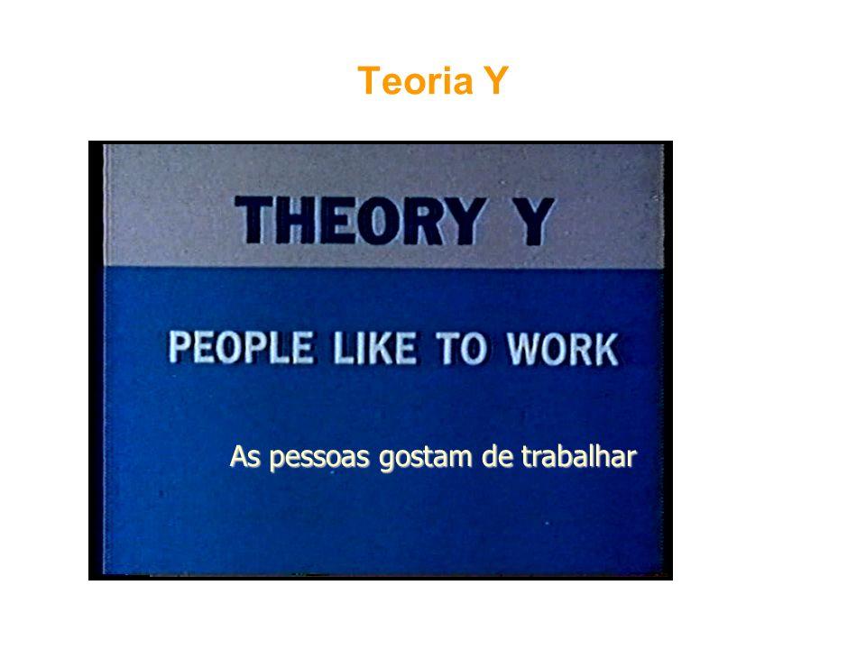 Teoria Y As pessoas gostam de trabalhar