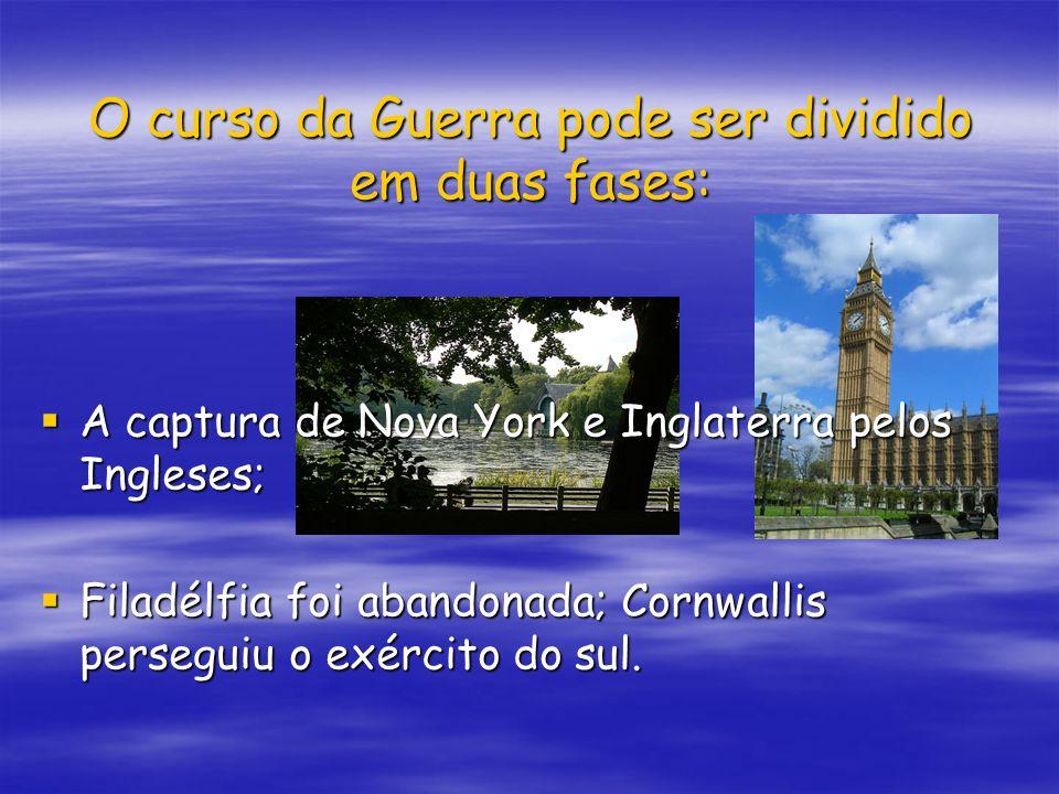 O curso da Guerra pode ser dividido em duas fases: A captura de Nova York e Inglaterra pelos Ingleses; A captura de Nova York e Inglaterra pelos Ingle