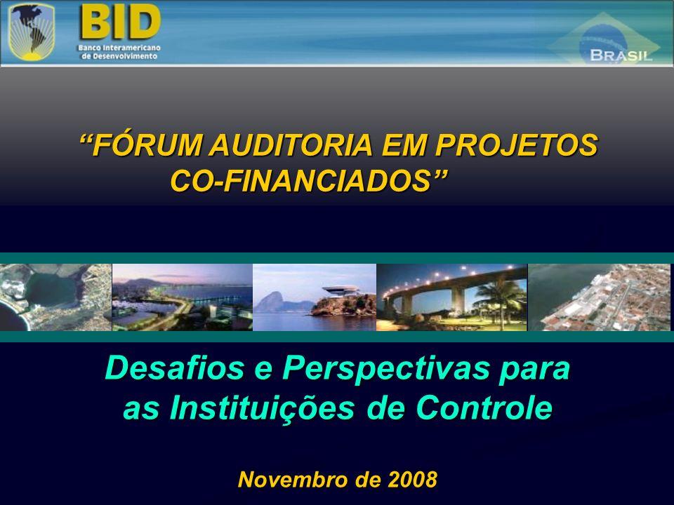 Desafios e Perspectivas para as Instituições de Controle Novembro de 2008 FÓRUM AUDITORIA EM PROJETOS CO-FINANCIADOS