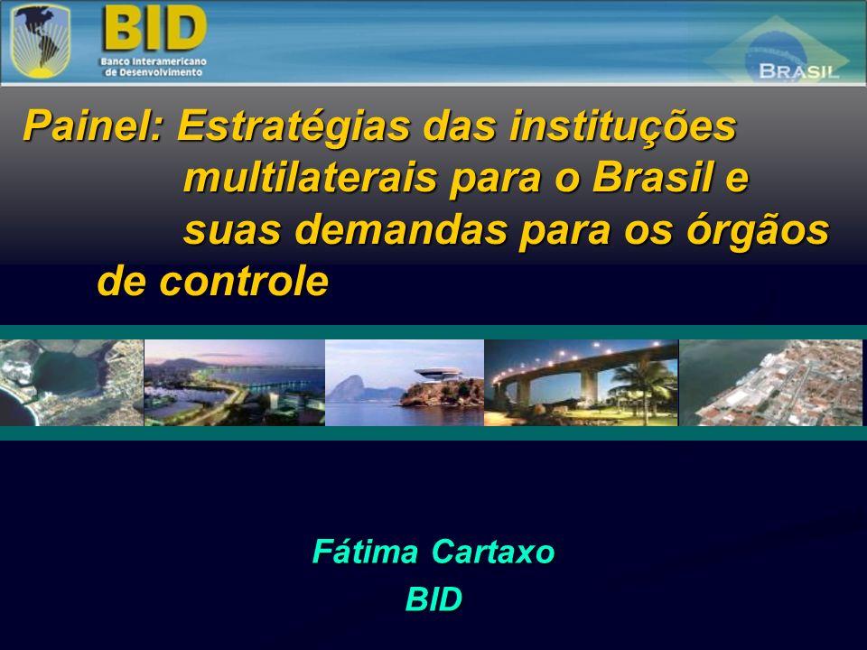 Fátima Cartaxo BID Painel: Estratégias das instituções multilaterais para o Brasil e suas demandas para os órgãos de controle Painel: Estratégias das